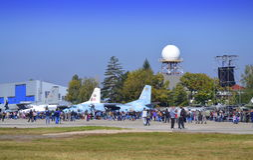 Болгарские открыть двери военновоздушной силы Стоковая Фотография RF