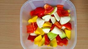 Болгарские перцы, guava и манго Стоковая Фотография RF