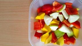 Болгарские перцы, guava и манго Стоковая Фотография