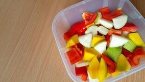 Болгарские перцы, guava и манго Стоковое Фото