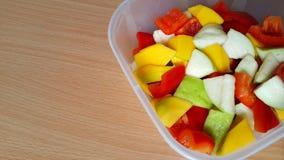 Болгарские перцы, guava и манго Стоковое Изображение