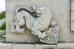 Болгарский лев на мемориале к героям Shipka Стоковое Изображение