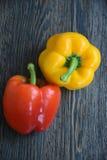 Болгарский перец желтого цвета болгарского перца болгарского перца красный, Стоковое Изображение RF