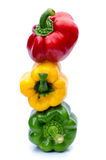 Болгарский перец или capsicum изолированные на белизне Стоковое фото RF