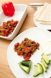 Болгарский перец и семенить карри мяса Стоковое фото RF