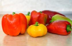 Болгарский перец красного, желтого и зеленого перца Стоковое Фото