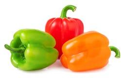 3 болгарского перца - на белой предпосылке Стоковые Изображения