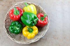 3 болгарского перца цвета Стоковые Фотографии RF