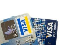 Более близкая поднимающая вверх кредитная карточка Стоковое Изображение