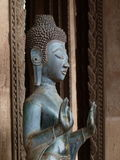 Более близкие Будда и руки в Лаосе Стоковое Изображение