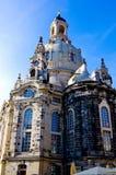 Более близкий взгляд Frauen Kirch в Дрездене Германии Стоковое Изображение RF