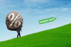Более высокие процентные ставки Стоковые Изображения RF