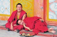 2 более молодых монаха Стоковое Изображение RF