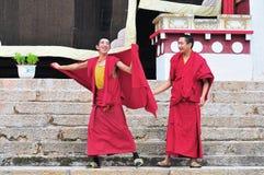 2 более молодых монаха Стоковая Фотография