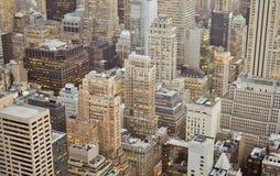 Более низкая панорама Манхаттана, Нью-Йорк Стоковые Фото