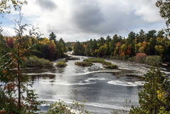Более низкие падения, Tahquamenon понижаются парк штата, Chippewa County, Мичиган, США Стоковые Изображения RF