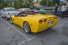Более новый автомобиль, автомобиль с откидным верхом 2004 Chevrolet Corvette Стоковое фото RF