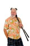 Более старый игрок в гольф стоковая фотография
