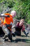 Более старый старший спортсмен в грязи Стоковые Фото