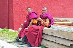 2 более старых монаха Стоковое фото RF