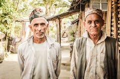 2 более старых люд в Непале Стоковые Фотографии RF