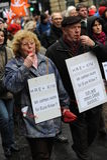 2 более старых люд на демонстрации Стоковые Изображения