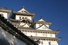 Более тщательное рассмотрение на замке Himeji, Himeji, Японии стоковая фотография