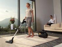 более чистый вакуум домохозяйки Стоковое Фото