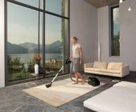 более чистый вакуум домохозяйки Стоковая Фотография RF