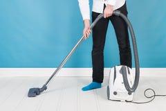 более чистый вакуум человека Стоковая Фотография RF