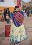 Боливийская дама Стоковая Фотография RF