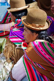 Боливийские женщины на улице Copacabana Стоковые Фотографии RF