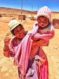 Боливийский ребенк Стоковые Фотографии RF