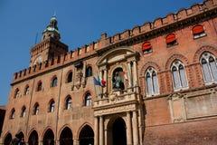 Болонья дворца Accursio стоковые изображения