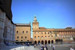 Болонья Италия Maggiore аркады стоковое изображение rf