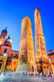 Болонья, эмилия-Романья - Италия - должное Torri Стоковое фото RF