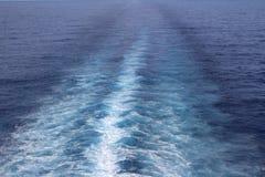 Бодрствование корабля Стоковое Изображение RF