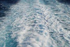 Бодрствование на море Стоковые Фото