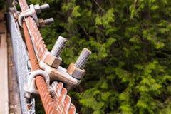 2 болта соединенного к веревочке metall Стоковые Изображения RF