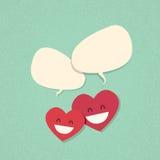 Болтовня 2 красная пар влюбленности формы сердца бесплатная иллюстрация