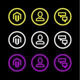 Болтовня часа человека символа логотипа значка дела плоская Стоковые Изображения
