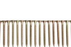 Болты изолированные над белизной на белизне стоковая фотография rf