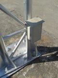 Болт и плита стальных структур Стоковые Фото