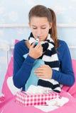 Больная девушка подростка Стоковое Изображение RF