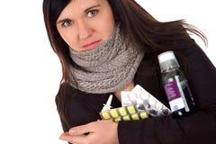 Больная женщина Стоковые Фотографии RF