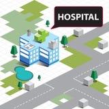Больница карты равновеликая Стоковые Изображения