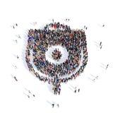 Больница медицинское 3d потека людей иллюстрация вектора