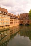 Больница Нюрнберга и старые здания фармации, Бавария, Германия стоковое изображение rf