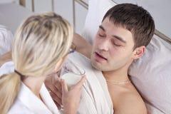 Больное питьевое молоко человека Стоковое фото RF