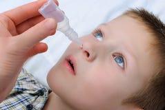 Больной мальчик Стоковые Фотографии RF